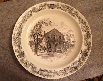 """1952 RARE Wedgwood Menlo Park White Creamware 10"""" Dinner Plate"""