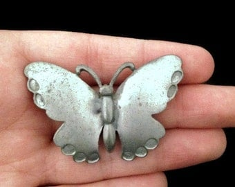brooch, silver vintage butterfly pin, butterfly brooch, vintage accessories
