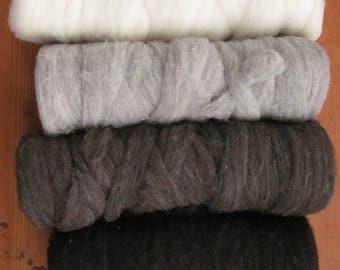 Corriedale wool roving- 8 oz