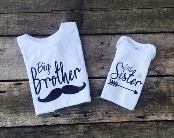 Sibling set- big sister,little sister, big brother, little brother tshirt/onesie combo