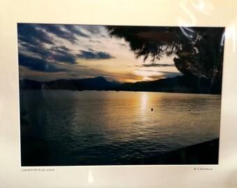 Sunset Print, Puerto Pollenca, Majorca Balearic Isles, Spain Print, Signed Limited Edition A3 Landscape Color Photograph 50cm x 40cm Mount