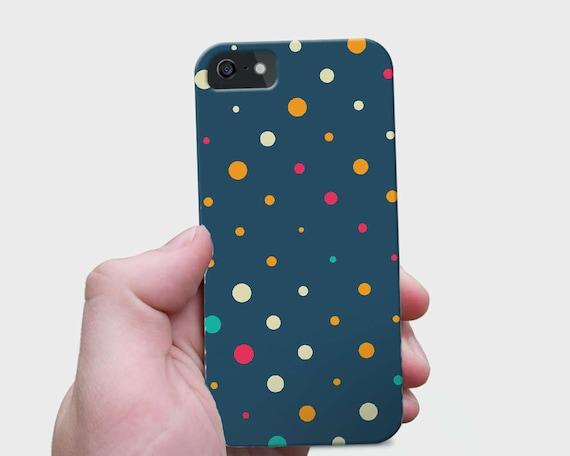 Retro Dots Pattern iPhone 7 Plus, Dots Galaxy S7 Case, Polka iPhone 7 Case, Slim Galaxy S6 Case, Circle iPhone 6s Case, Kids iPhone SE Case