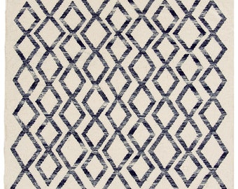 Atlas Kelim Rug Blue