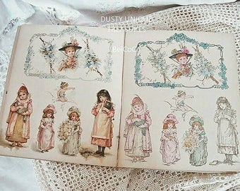 Charming, old children's books - coloring book