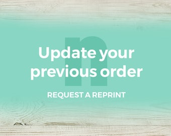 Request a reprint: Previous customers can request an update and reprint