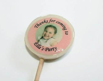Girls Party Favours, Lollipops, Pink Party Favours, Birthday Favours, Pink Favours, Personalised Favours, Party Bag Gifts, Party Favours
