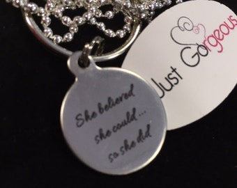She Believed She Could So She Did Keyring/Necklace