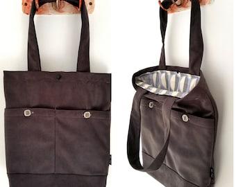 Tote bag, shoulder bag, vegan bag, Handbag, Beach Bag, summer bag, Everyday bag, vegan handbag, black tote, black bag, black hand bag