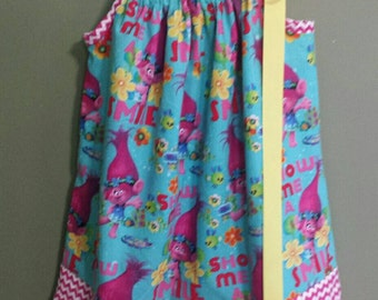"Troll pillowcase dress ""Poppy"""