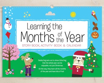 Months of the Year Activity Book Un-Personalised