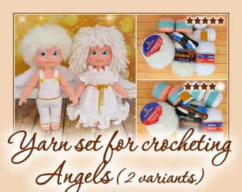 Yarn set for crocheting Angels
