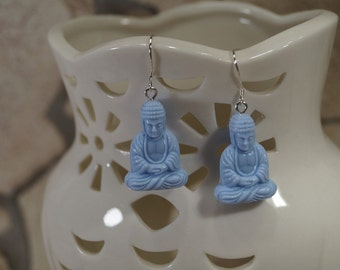 Earrings Buddah Blau or ochre