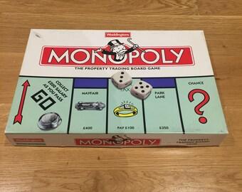 Monopoly Family Board Game Waddingtons Vintage Retro 1996