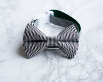 Bow Tie Collar | Monochrome Gingham | Dog & Cat