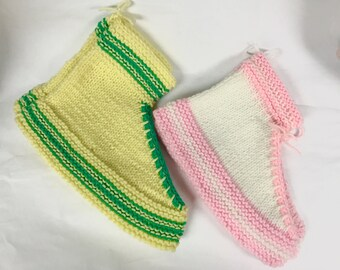 Knitted Tennis Shoe Adult Booties