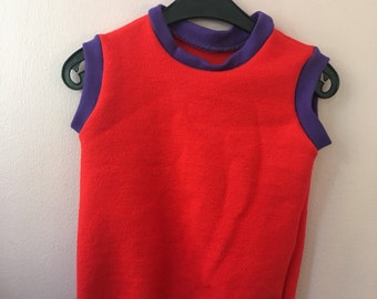Pullunder wollig 98 104 110 Retro Vintage Kinderkleidung 70er seventies