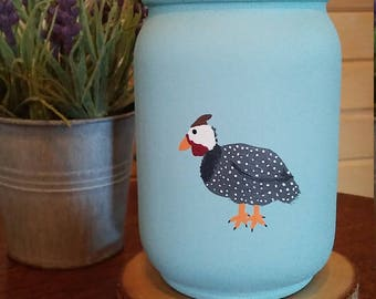 Guinea fowl mason jar