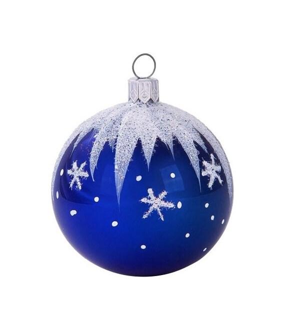 Blue Christmas Ball Ornaments Uk