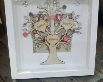 Family tree box frame
