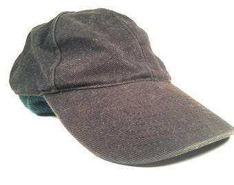 Vintage Low Profile Black Denim Hat