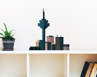 8 Bit Skyline 1 Wall Decal