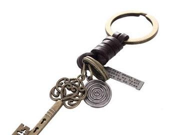 Antique Key Keychain