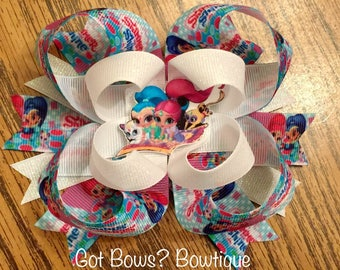 Shimmer & Shine Stacked Boutique Bow