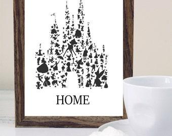 Disney Castle Home Digitl Print