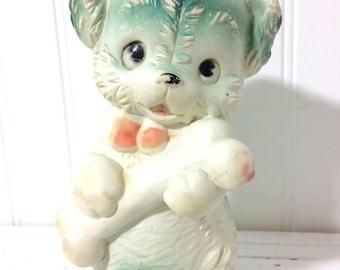 Vintage Squeak Toy, Dog with a Bone.