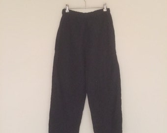 Cropped pants linen
