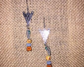 Gypsy boho Bohemian drop dangle earrings