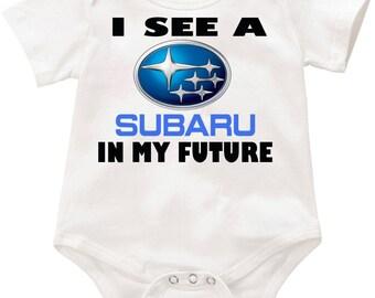 I see a Subaru in my future Onesie romper creeper Bodysuit