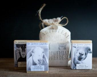 Gift Soap, Goat Milk Soap, Choose 3 Bars