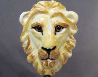 Golden Lion Lampwork Glass Bead