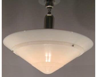 A7527 Vintage Circa 1920-30's Art Deco Bowl Light