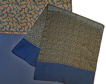 Vintage Large Oblong Paisley Silk Scarf
