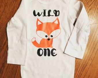 Wild One Fox Onesie