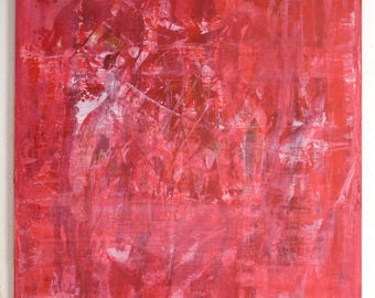 120 x 100 cm abstract painting Red No 1