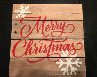 Christmas Pallet Signs Etsy