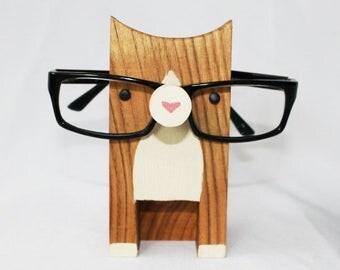 Wooden Cat Eyeglass Stand