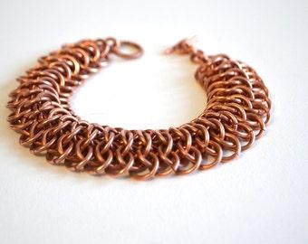 bracelet for man trendy link bracelet mens bracelets unique copper jewelry gift chainmaille bracelet Men copper bangle copper bracelet men