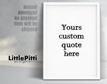 Custom quote print, typewriter print, custom typography, custom printable, custom design, custom text, custom print, personalized quote