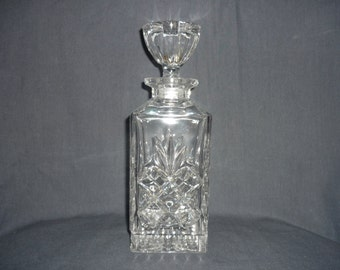 Bohemian crystal whiskey decanter from the 1980s.