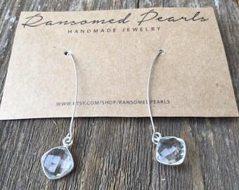 CLOSING SALE! Silver Teardrop Earrings