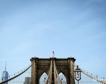 New York City Brooklyn Bridge Photo Print | Color Photography | NYC  Skyline | Photography Gift | Brooklyn NY | Wall Decoration Art