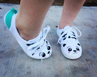 Made to order panda shoes for summer outfits or just to look adorable in:) adult amd child sizes