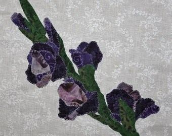 Gladiolus Appliqué Block for Buoyant Blossoms BOM