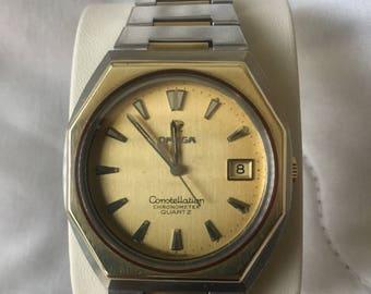 Omega Constellation Vintage Gold Watch