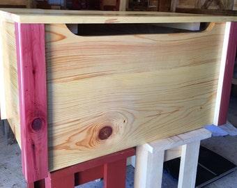 Handmade Pine and Cedar Toy Box / Chest