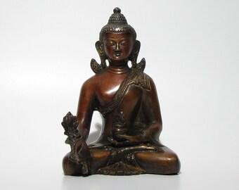 Buddha statue brass,statuette,Buddhism,Buddhist,Meditation,Medicine Buddha